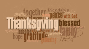 Thanksgiving word montage color