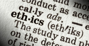 Dictionary entry of the word ethics.