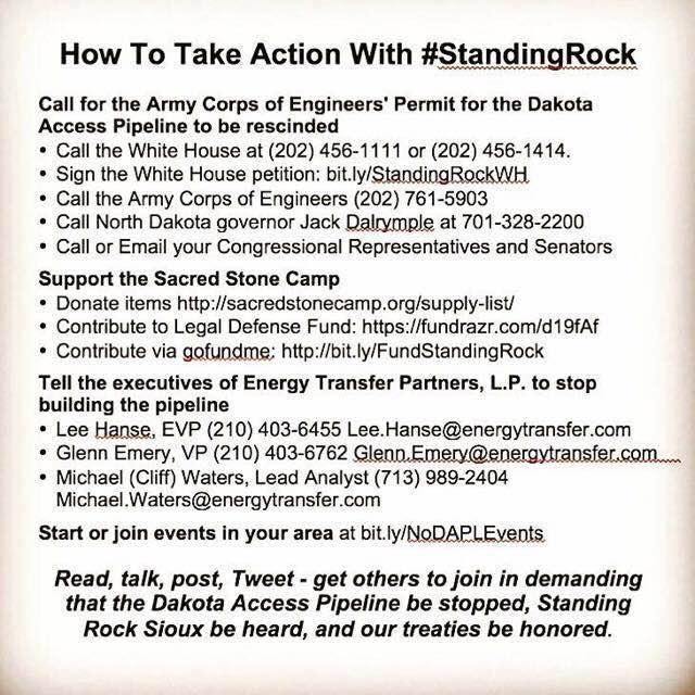How to take action with #standingrock