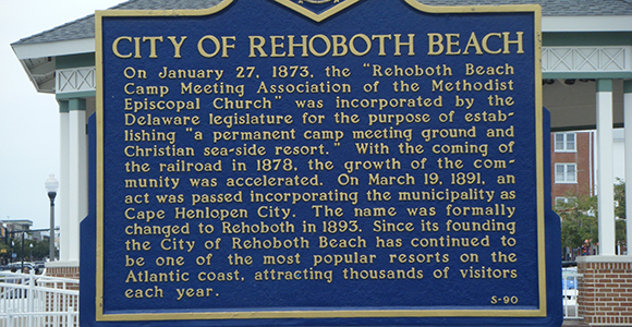 City of Rehoboth sign