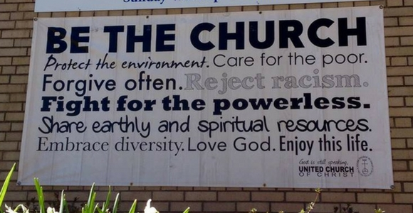 First Congregational UCC of Asheville Church Sign