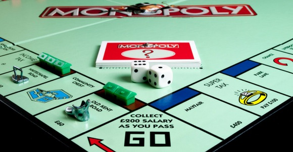 picture of the monopoly game board