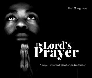 The Lord's Prayer album cover. Person praying.