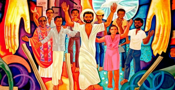 """Cristo de la Liberacion"" (Christ of the Liberation) by Maximino Cerezo Barredo, who's been dubbed ""liberation painter."""