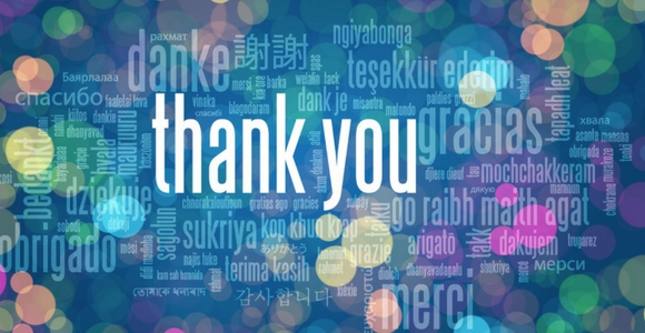 Picture of thank you in various languages