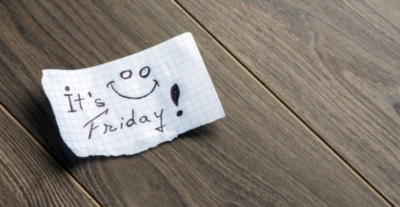 "Note saying ""It's Friday."""