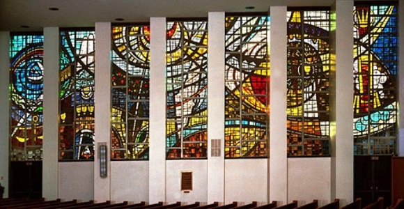 Main Sanctuary Stained Glass Windows at Tree of Life* Or L'Simcha Congregation
