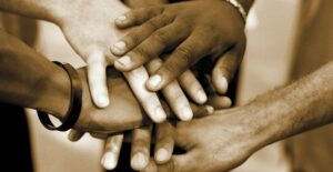 hands together in partnership