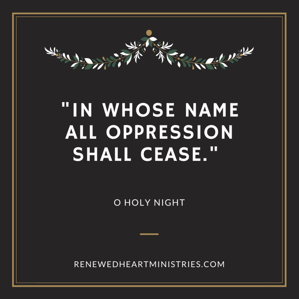 in whose name all oppression shall cease