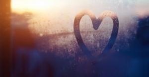 heart drawn in foggy window