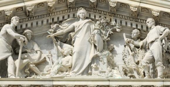sculpture on capitol building